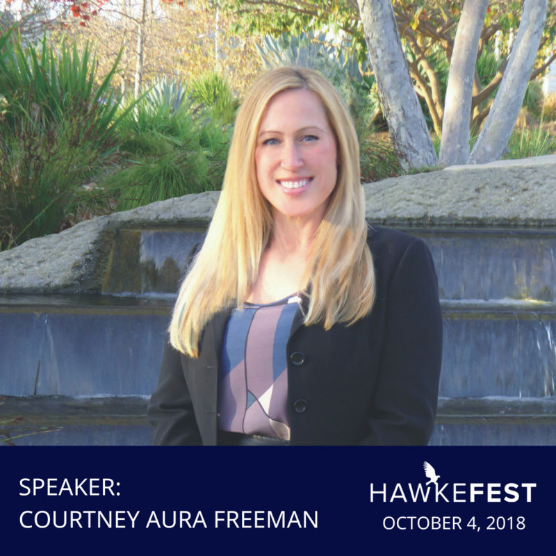 Courtney Freeman Speaking At HawkeFest