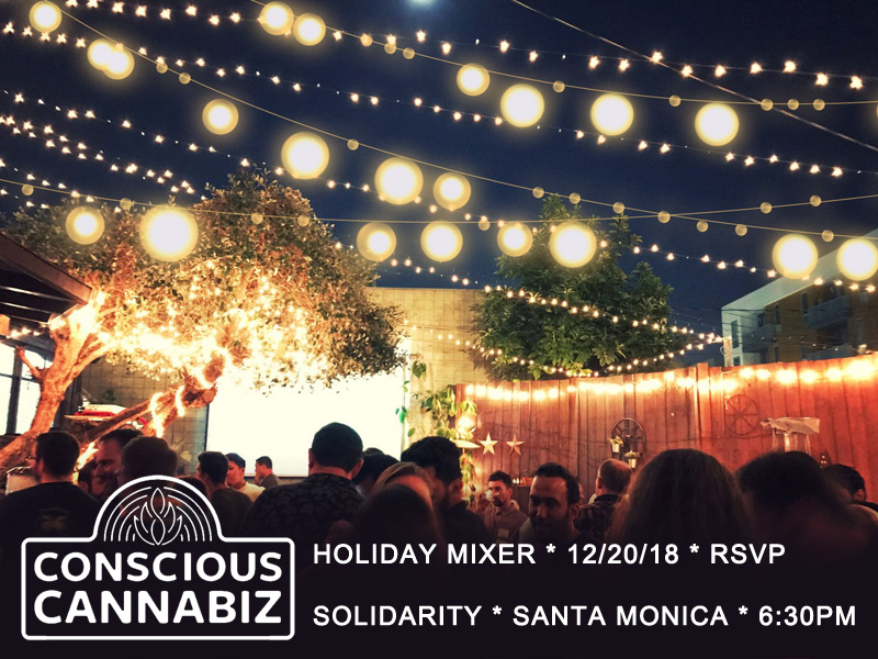 Conscious Cannabiz Holiday Mixer Winter Solstice